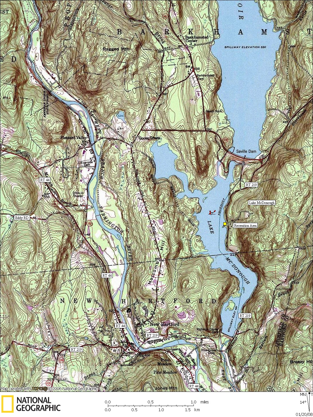 Connecticut, Map, Lakes, Ponds, Canoe, Canoeing, Kayak, Kayaking, Paddling, Lake, Pond, Flat water, McDonough