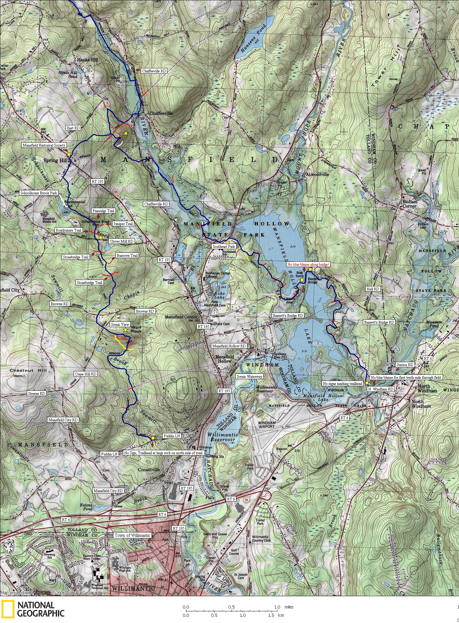 Nipmuck, trail, trails, hike, hiking, map, backpacking, camping, outdoors, blue, blazed